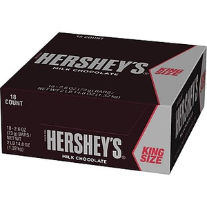 Hershey's, Milk Chocolate KING SIZE Bar, 2.6 oz. (18 Count)