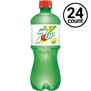 7 UP Diet, 20 oz., Bottles (24 Count Case)