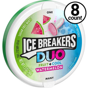Ice Breakers Duo Fruit plus Cool, Sugar Free Watermellon 1.3 oz. (8 Count)