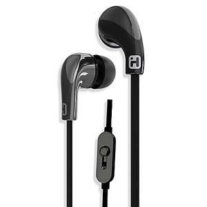 iHome Noise Isolating Earphones with In-line Mic and Remote, Black Color (1 Count)