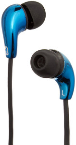 iHome Noise Isolating Earphones with In-line Mic and Remote, Metallic Blue Color (1 Count)