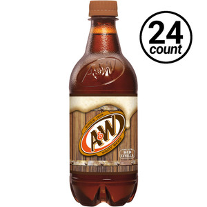 A&W Root Beer, 20 oz., Bottles (24 Count Case)