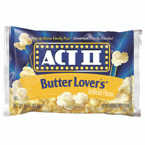 ACT II Popcorn, Butter Lovers, (2.75 oz. Microwavable Bag (1 Count)
