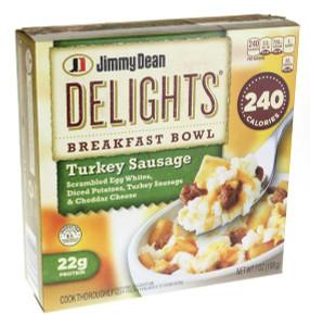 Jimmy Dean D-lights, Turkey Sausage Bowl, 7.0 oz. (1 Count)