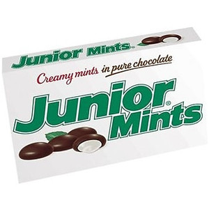 Junior Mints, Creamy Mints in Pure Chocolate, 4 oz. Theater Box (1 Count)