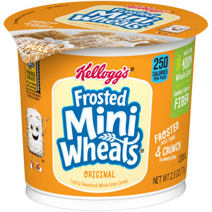 Kellogg's Cereal in a Cup, Frosted Mini-Wheats bite size, 2.5 oz. Cup (1 Count)