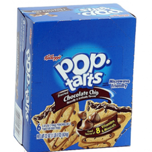 Kellogg's Pop-Tarts, Chocolate Chip, 2-3.67 oz. Pastries (6 Count)