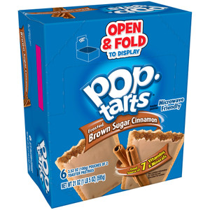 Kellogg's Pop-Tarts, Frosted Brown Sugar Cinnamon, 2-3.52 oz. Pastries (6 Count)