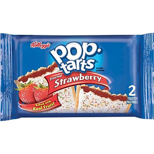 Kellogg's Pop-Tarts, Frosted Strawberry, 2-3.67 oz. Pastries (6 Count)