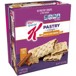 Kellogg's Special K Pastry Crisp, Brown Sugar Cinnamon, 0.88 oz. (9 Count)