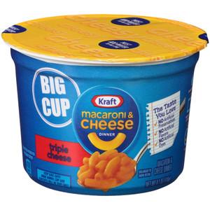 Kraft Macaroni and Cheese, Triple Cheese, 4.1 oz. Big Microwavable Bowl (1 Count)