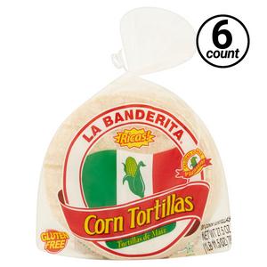 La Banderita, Corn Tortilla (6 Bags of 30 Count)