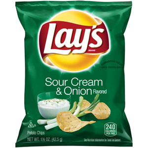 Lay's, Sour Cream And Onion, 1.5 oz. Bag (1 Count)