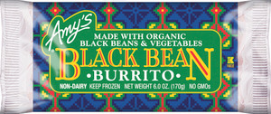 Amy's Kitchen, Black Bean Vegetable Burrito, 6.0 oz. Entree (1 Count)