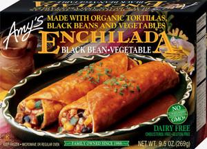 Amy's Kitchen, Black Bean Vegetable Enchilada, 10.0 oz. Entree (1 Count)