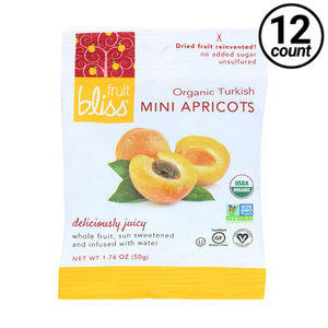 Fruit Bliss Organic Mini Turkish Apricots Dried, 1.76 oz. (12 Count)