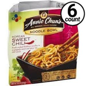 Annie Chun's Noodle Bowl, Korean Sweet Chili, 9.1 oz. (6 Count)