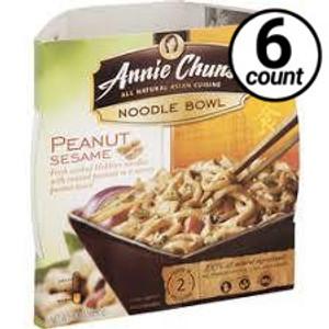 Annie Chun's Noodle Bowl, Peanut Sesame, 9.1 oz. (6 Count)