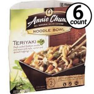 Annie Chun's Noodle Bowl, Teriyaki, 8.2 oz. (6 Count)