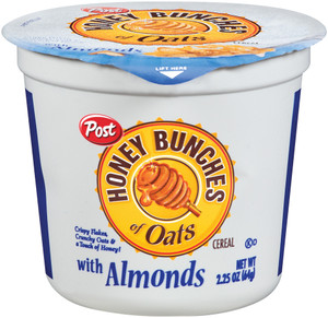 Post, Honey Bunches of Oats with Almonds, 2.25 oz. cup (1 Count)