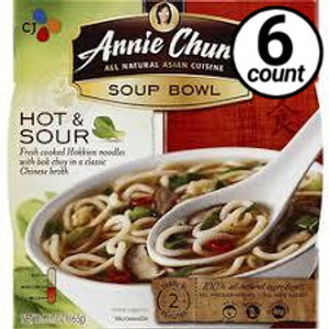 Annie Chun's Soup Bowl, Hot & Sour, 5.5 oz. (6 Count)