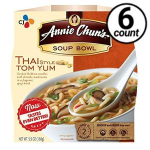 Annie Chun's Soup Bowl, Thai Tom Yum, 6 oz. (6 Count)