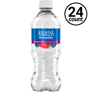 Aquafina FlavorSpalsh Water, Berry, 20 oz. Bottles (24 Count Case)