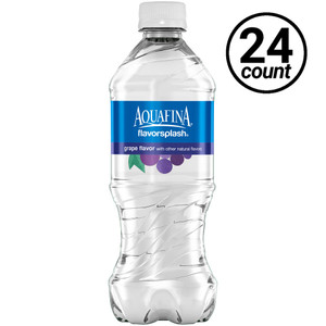 Aquafina FlavorSpalsh Water, Grape, 20 oz. Bottles (24 Count Case)