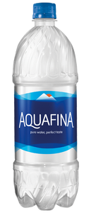 Aquafina Water, 1.0 Liter, 33.8 fl. oz  Bottle (1 Count)