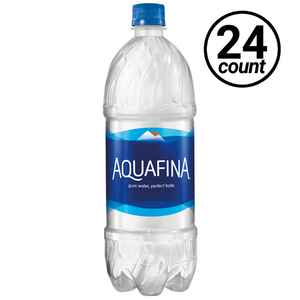Aquafina Water, 1.0 Liter PET (24 Count Case)