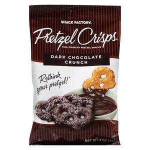 Snack Factory Pretzel Crisps, Dark Chocolate Crunch, 4.0 oz. (1 Count)