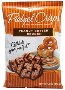 Snack Factory Pretzel Crisps, Peanut Butter Crunch, 4.0 oz. (1 Count)
