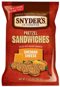 Snyder's, Cheddar Cheese Pretzel Sandwiches, 2.125 oz. Bag (1 Count)