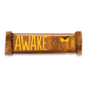 Awake Chocolate, Caffinated Chocolate Bar Caramel, 1.55 oz. Bar (12 Count)