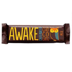 Awake Chocolate, Caffinated Chocolate Bar Milk Chocolate, 1.55 oz. Bar (12 Count)