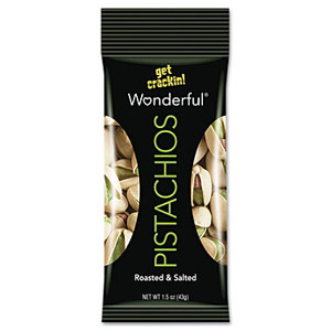 Wonderful Pistachios, Roasted & Salted, 1.5 oz. Peg Bag (1 Count)