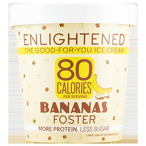 Enlightened, Banana Foster Ice Cream, Pint (1 Count)