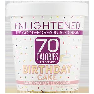 Enlightened, Birthday Cake Ice Cream, Pint (1 Count)