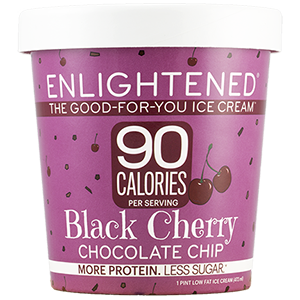Enlightened, Black Cherry Chocolate Chip Ice Cream, Pint (1 Count)