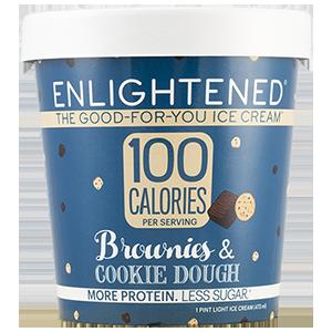 Enlightened, Brownies & Cookie Dough Ice Cream, Pint (1 Count)
