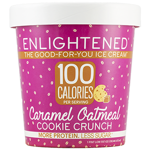 Enlightened, Caramel Oatmeal Cookie Crunch Ice Cream, Pint (1 Count)