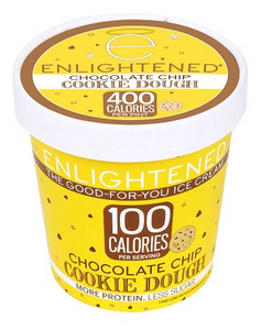 Enlightened, Chocolate Chip Cookie Dough Ice Cream, Pint (1 Count)