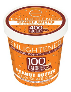 Enlightened, Peanut Butter Chocolate Chip Ice Cream, Pint (1 Count)