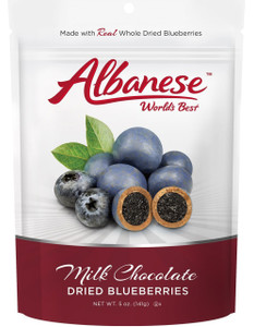Albanese, Milk Chocolate Dried Blueberries, 5 oz. (1 Count)
