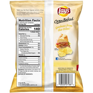 Lay's, Oven Baked, Regular, 1.125 oz. Bag (1 Count)