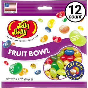Jelly Belly, Fruit Bowl, 3.5 oz. Bag (12 Count)