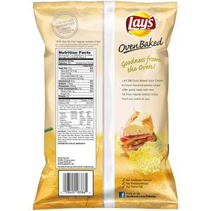 Lay's, Oven Baked, Sour Cream & Onion, 1.125 oz. Bag (1 Count)