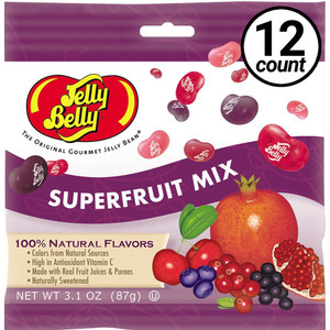 Jelly Belly, Superfruit Mix, 3.1 oz. Bag (12 Count)
