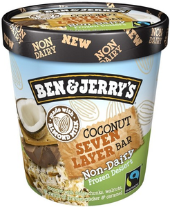 Ben & Jerry's NON-DAIRY Coconut Seven Layer Bar Ice Cream, Pint (1 Count)