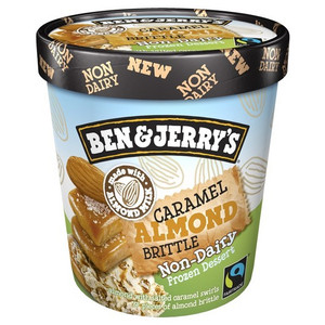 Ben & Jerry's NON-DAIRY Caramel Almond Brittle Ice Cream, Pint (1 Count)